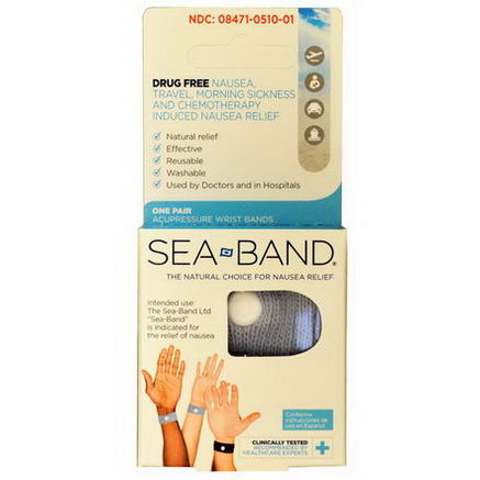Sea Band, Acupressure Wrist Bands, One Pair