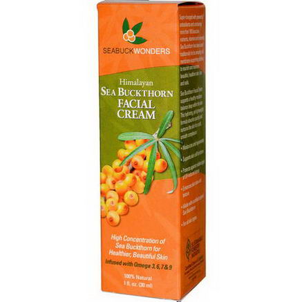 SeaBuckWonders, Himalayan, Sea Buckthorn Facial Cream, 1 fl oz (30 ml)