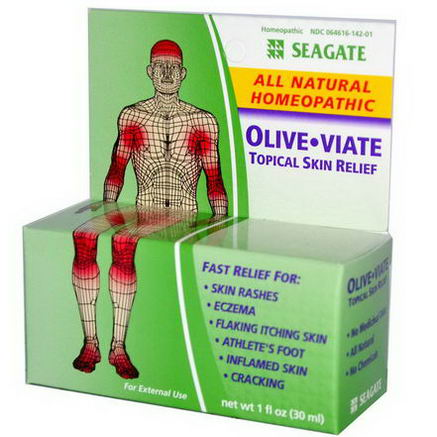 Seagate, Olive Viate, Topical Skin Relief, 1 fl oz (30 ml)