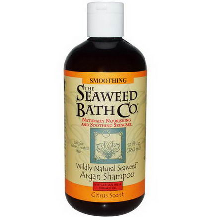 Seaweed Bath Co. Wildly Natural Seaweed Argan Shampoo, Citrus Scent, 12 fl oz (360 ml)