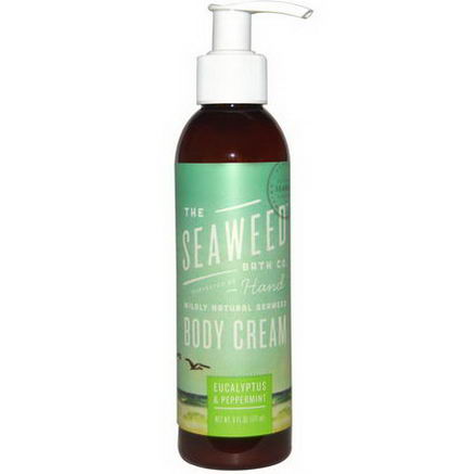 Seaweed Bath Co. Wildly Natural Seaweed Body Cream, Eucalyptus & Peppermint, 6 fl oz (177 ml)