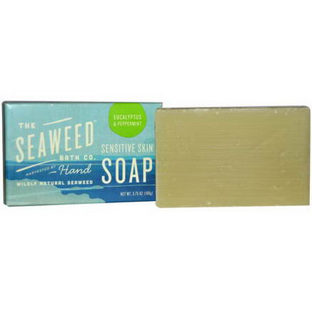 Seaweed Bath Co. Wildly Natural Seaweed Sensitive Skin Soap, Eucalyptus & Peppermint, 2oz (57g)