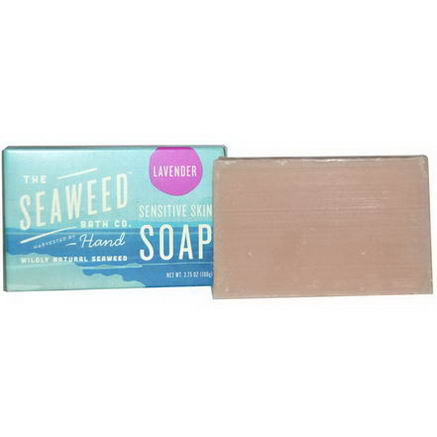 Seaweed Bath Co. Wildly Natural Seaweed Sensitive Skin Soap, Lavender, 2oz (57g)