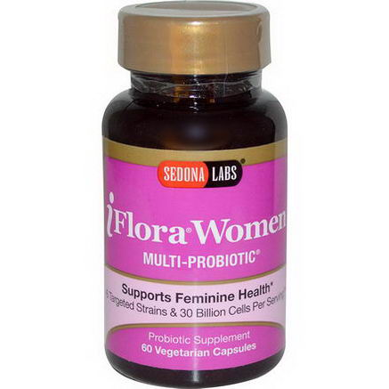 Sedona Labs, iFlora Women, Multi-Probiotic, 60 Veggie Caps