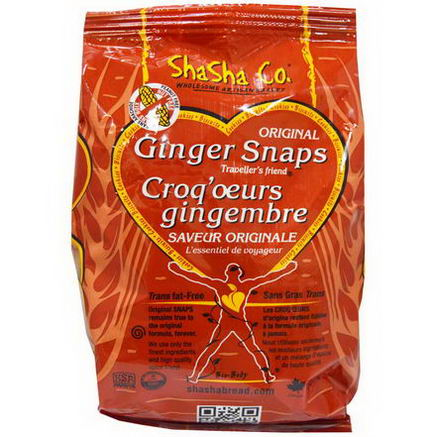 ShaSha Bread Co, Original Ginger Snaps, 300g