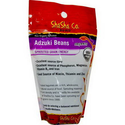 ShaSha Bread Co, Raw Organic Sprouted Adzuki Beans, 1 lb (454g)