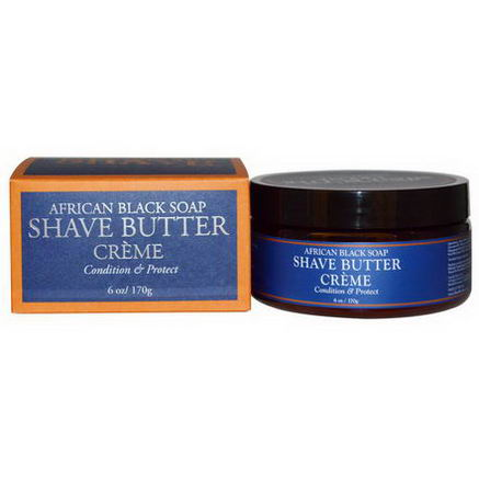 Shea Moisture, African Black Soap Shave Butter Creme, 6oz (170g)