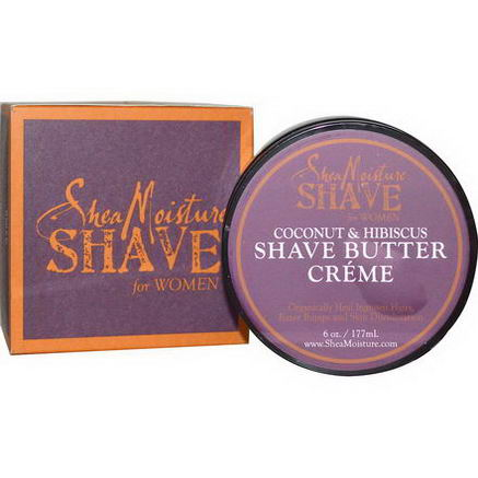 Shea Moisture, Shave Butter Creme for Women, Coconut & Hibiscus, 6oz (177 ml)