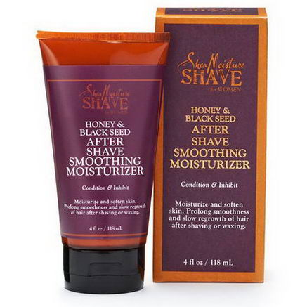 Shea Moisture, Shave for Women, After Shave Smoothing Moisturizer, Honey & Black Seed, 4 fl oz (118 ml)