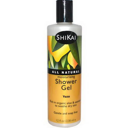 Shikai, Moisturizing Shower Gel, Yuzu, 12 fl oz (238 ml)