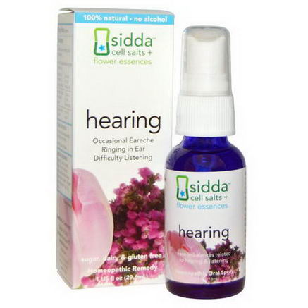 Siddatech, Cell Salts + Flower Essences, Hearing, 1 fl oz (29.6 ml)