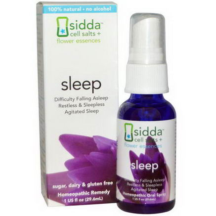 Siddatech, Cell Salts + Flower Essences, Sleep, 1 fl oz (29.6 ml)