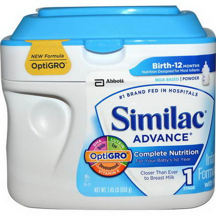 Similac, Advance, Infant Formula with Iron, Stage 1, 1.45 lb (658g)