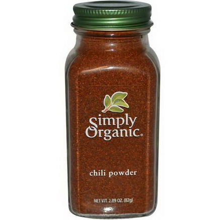 Simply Organic, Chili Powder, 2.89oz (82g)