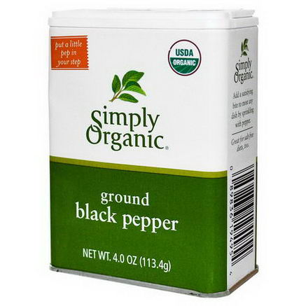 Simply Organic, Ground Black Pepper, 4oz (113.4g)