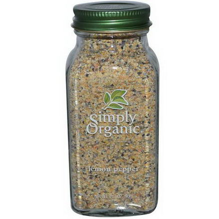 Simply Organic, Lemon Pepper, 3.17oz (90g)