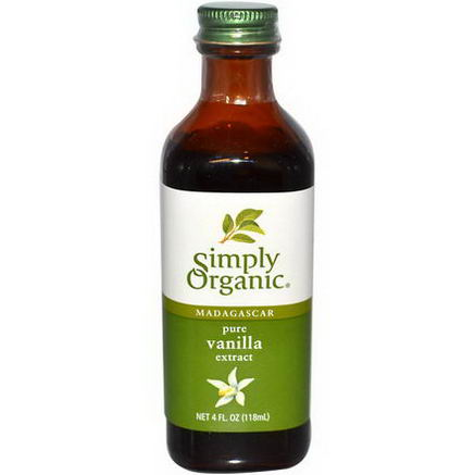Simply Organic, Madagascar Pure Vanilla Extract, Farm Grown, 4 fl oz (118 ml)