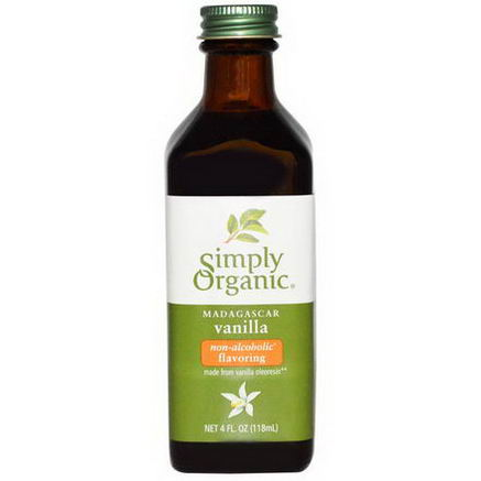 Simply Organic, Madagascar Vanilla, Non-Alcoholic Flavoring, Farm Grown, 4 fl oz (118 ml)