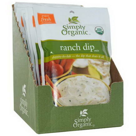 Simply Organic, Ranch Dip Mix, 12 Packets, 1.50oz (43g) Each