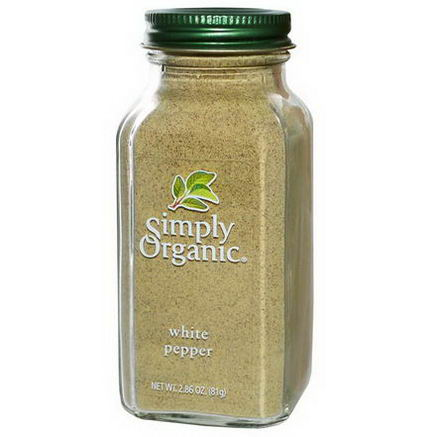 Simply Organic, White Pepper, 2.86oz (81g)