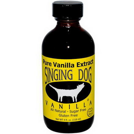 Singing Dog Vanilla, Pure Vanilla Extract, Farm Grown, 4 fl oz (118 ml)