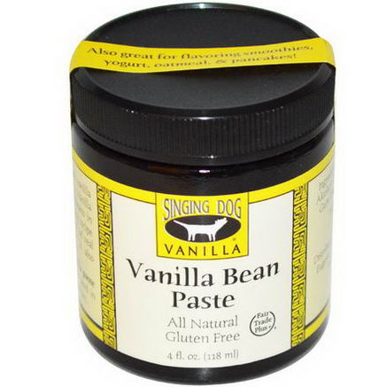 Singing Dog Vanilla, Vanilla Bean Paste, Farm Grown, 4 fl oz (118 ml)
