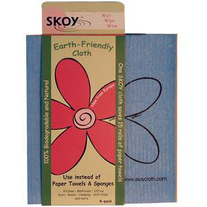Skoy Enterprises, Earth-Friendly Cloth, Mixed Colors, 4-Pack