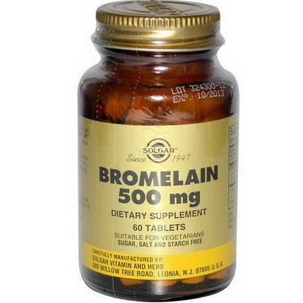 Solgar, Bromelain, 500mg, 60 Tablets