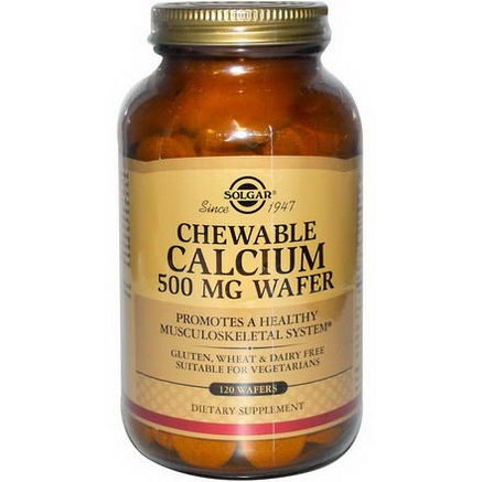 Solgar, Chewable Calcium, 500mg, 120 Wafers