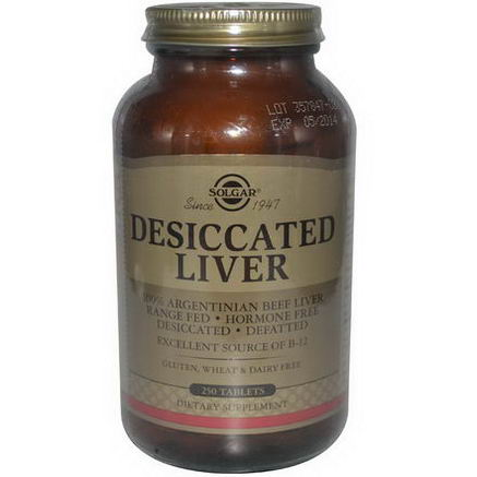 Solgar, Desiccated Liver, 250 Tablets