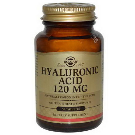 Solgar, Hyaluronic Acid, 120mg, 30 Tablets
