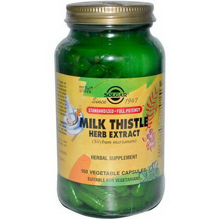 Solgar, Milk Thistle Herb Extract, 150 Veggie Caps