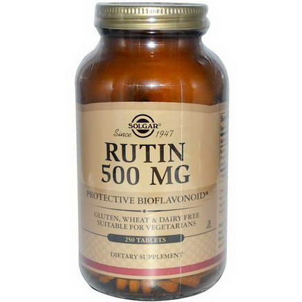 Solgar, Rutin, 500mg, 250 Tablets