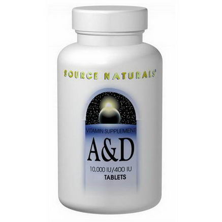 Source Naturals, A & D, 10, 000 IU/400 IU, 250 Tablets