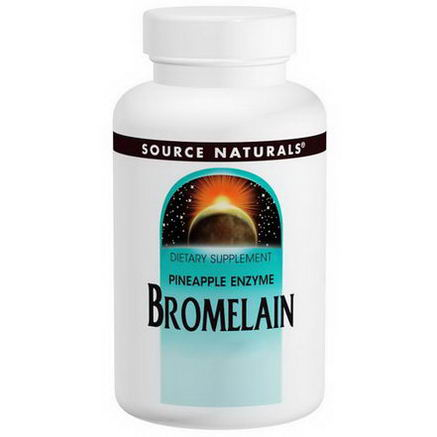 Source Naturals, Bromelain, 2000 GDU/g, 500mg, 60 Tablets