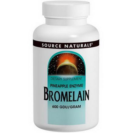Source Naturals, Bromelain, 600 GDU/Gram, 500mg, 120 Tablets