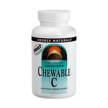 Source Naturals, Chewable C, Acerola Cherry, 500mg, 250 Tablets