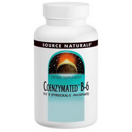 Source Naturals, Coenzymated B-6, 25mg Sublingual, 120 Tablets