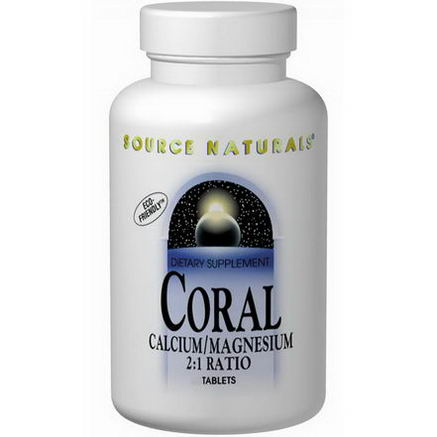 Source Naturals, Coral, Calcium/Magnesium 2:1 Ratio, 90 Tablets