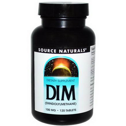 Source Naturals, DIM, (Diindolylmethane), 100mg, 120 Tablets