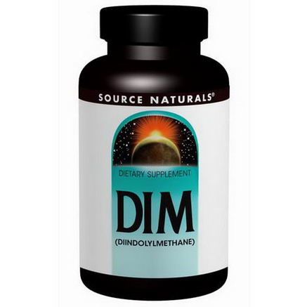 Source Naturals, DIM, (Diindolylmethane), 100mg, 60 Tablets