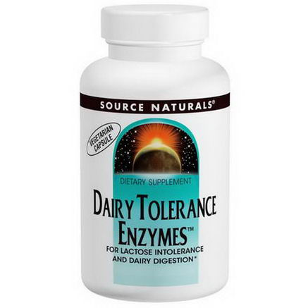 Source Naturals, Dairy Tolerance Enzymes, 500mg, 90 Capsules