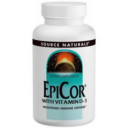 Source Naturals, EpiCor with Vitamin D-3, 500mg, 120 Capsules