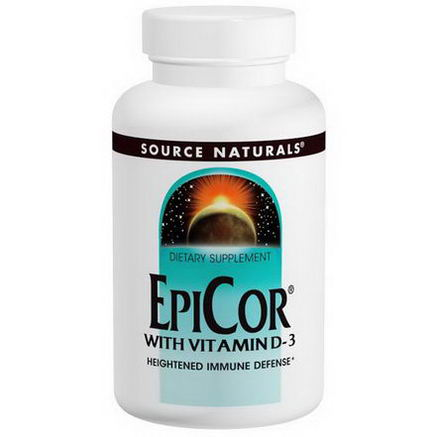 Source Naturals, EpiCor with Vitamin D-3, 500mg, 30 Capsules