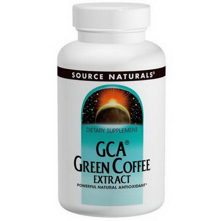 Source Naturals, GCA Green Coffee Extract, 500mg, 60 Tablets