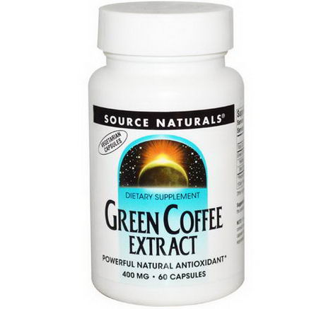 Source Naturals, Green Coffee Extract, 400mg, 60 Capsules