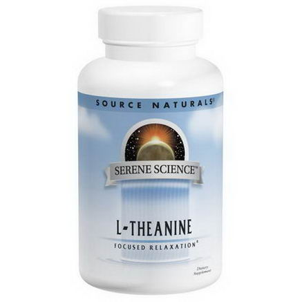 Source Naturals, L-Theanine, 200mg, 60 Capsules