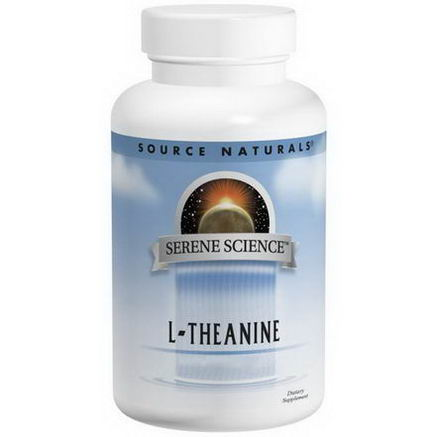 Source Naturals, L-Theanine, 200mg, 60 Tablets