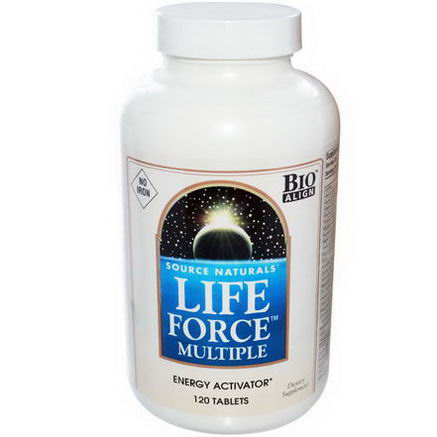Source Naturals, Life Force Multiple, No Iron, 120 Tablets
