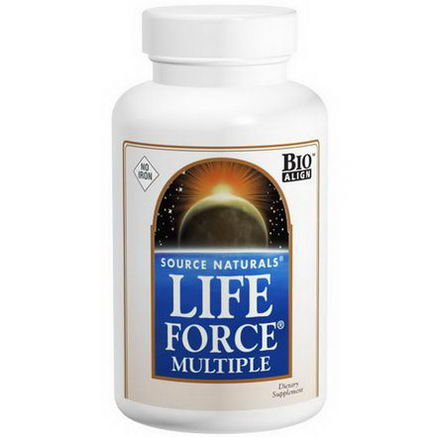 Source Naturals, Life Force Multiple, No Iron, 60 Tablets